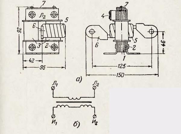 Трансформатор тока типа ТК
