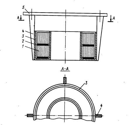 горизонтальная установка тороидального трансформатора в обечайке