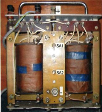 Конструкция сварочного трансформатора