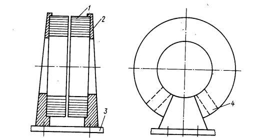 вертикальная установка тороидального трансформатора