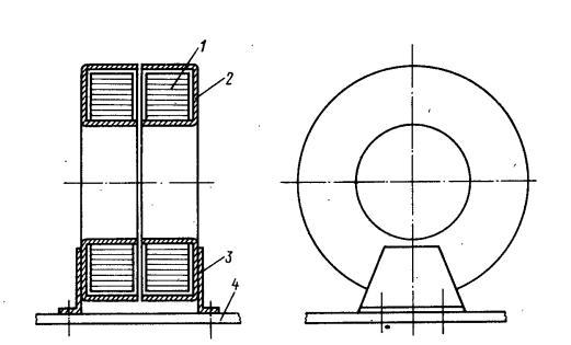 магнитопровод в обечайке ,установленный вертикально