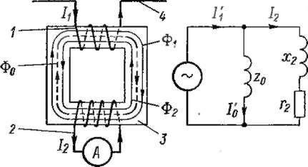 Принципиальная схема трансформатора тока