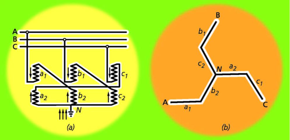схема заземляющего трансформатора
